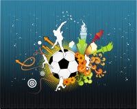 Vector del fútbol Fotografía de archivo libre de regalías