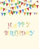 Vector del feliz cumpleaños Vector del formato EPS10 Foto de archivo