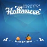 Vector del feliz Halloween - ejemplo del truco o de la invitación Imágenes de archivo libres de regalías