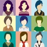 Vector del flash de Avatar de las mujeres Imágenes de archivo libres de regalías