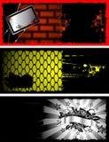 Vector del flayer de Grunge Fotografía de archivo