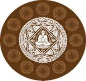 Vector del fondo de Buda Fotos de archivo libres de regalías
