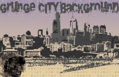 Vector del fondo de la ciudad de Grunge Fotografía de archivo libre de regalías