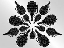Vector del fondo de la granada Imágenes de archivo libres de regalías