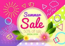 Vector del fondo de la venta del verano fotos de archivo