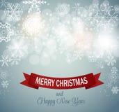 Vector del fondo de los copos de nieve de la Navidad Imagen de archivo libre de regalías
