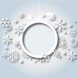 Vector 2 del fondo de los copos de nieve de la Navidad Foto de archivo