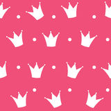 Vector del fondo de princesa Crown Seamless Pattern Foto de archivo