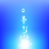 Vector del fondo del agua Foto de archivo