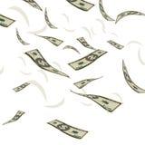 Vector del fondo del concepto de la moneda del flujo del billete de dólar del efectivo de las finanzas Fotos de archivo libres de regalías