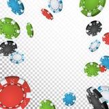 Vector del fondo del ganador del bote del póker Casino Chips Illustration de la explosión que cae Para el casino en línea, juegos Fotos de archivo