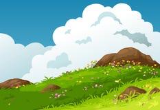 Vector del fondo del paisaje de las montañas stock de ilustración