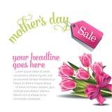 Vector del fondo EPS 10 de la venta del día de madres stock de ilustración
