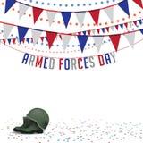 Vector del fondo EPS 10 del empavesado del día de fuerzas armadas de arma stock de ilustración