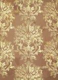 Vector del fondo del modelo del vintage Decoraciones de moda del ornamento en color cobrizo Foto de archivo libre de regalías
