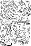 Vector del gráfico de bosquejo del Doodle Fotos de archivo
