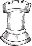 Vector del grajo del ajedrez del garabato stock de ilustración