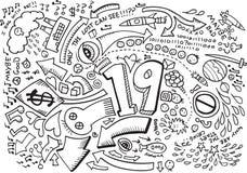 Vector del gráfico de bosquejo del Doodle Imagen de archivo libre de regalías