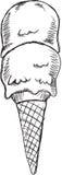 Vector del helado del garabato Foto de archivo libre de regalías