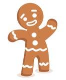 Vector del hombre de pan de jengibre Imagen de archivo libre de regalías