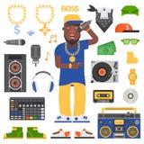 Vector del hombre del hip-hop Foto de archivo libre de regalías
