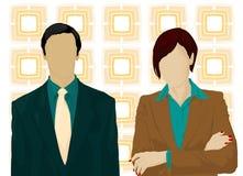 Vector del hombre y de la mujer de negocios ilustración del vector