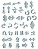 Vector del icono 3d de las flechas Fotos de archivo libres de regalías
