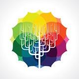 Vector del icono abstracto del árbol Imagen de archivo
