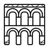 Vector del icono del acueducto de Segovia ilustración del vector