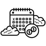 Vector del icono del calendario stock de ilustración
