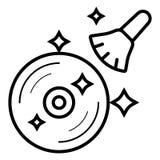 Vector del icono del Cd stock de ilustración