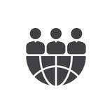 Vector del icono de International Team, muestra plana llenada, pictograma sólido aislado en blanco Símbolo, ejemplo del logotipo libre illustration