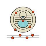 Vector del icono de la biométrica aislado en el fondo blanco, muestra de la biométrica, símbolos de la tecnología stock de ilustración