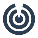 Vector del icono de la blanco Foto de archivo libre de regalías