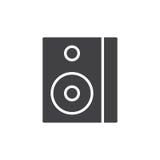 Vector del icono de la caja de altavoz de los sonidos Fotografía de archivo libre de regalías