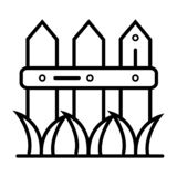 Vector del icono de la cerca libre illustration