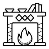 Vector del icono de la chimenea stock de ilustración