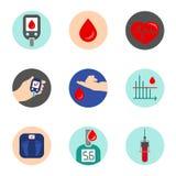 Vector del icono de la diabetes Imágenes de archivo libres de regalías