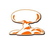 Vector del icono de la explosión Hongo atómico, silueta Fotografía de archivo libre de regalías