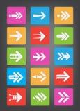 Vector del icono de la flecha Fotografía de archivo libre de regalías