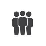 Vector del icono de la gente, muestra plana llenada, pictograma sólido aislado en blanco Símbolo del líder de equipo, ejemplo del ilustración del vector