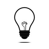 Vector del icono de la lámpara Foto de archivo libre de regalías