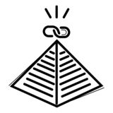 Vector del icono de la pirámide stock de ilustración