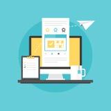 Vector del icono de la planificación de empresas Imagen de archivo