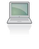 Vector del icono del cuaderno/de la computadora portátil   Foto de archivo libre de regalías