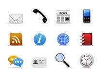 Vector del icono del media de comunicación Imagen de archivo