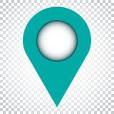 Vector del icono del Pin La ubicación firma adentro estilo plano en backgro aislado libre illustration