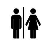Vector del icono del retrete del WC Imagenes de archivo