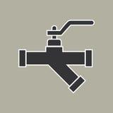 Vector del icono del tubo Fotografía de archivo libre de regalías