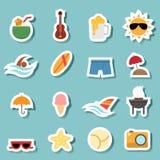 Vector del icono del verano stock de ilustración